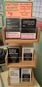 'Knitters Against Swatches' the unofficial knitting-themed expansion pack for Cards Against Humanity - $9