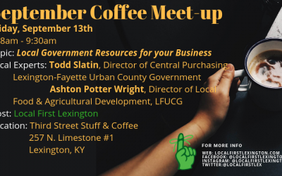 September 2019 Coffee Meet-up: Local Government Resources for Your Business